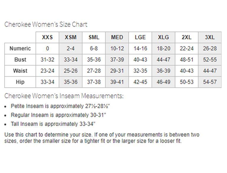 My Size Chart